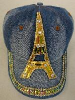 Denim Hat with Bling [Eiffel Tower] Gold